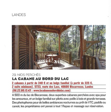 la cabane au bord du lac le figaro magazine. Black Bedroom Furniture Sets. Home Design Ideas